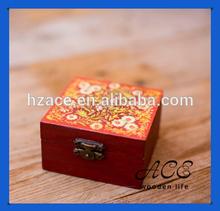 Customization Printing Wooden Box UV Printing Jewel Case Vintage Pattern