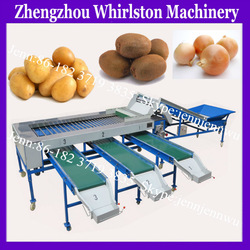 HOT!! potato/kiwi fruit/onion/fruit and vegetable sorting machine by size