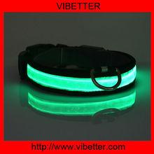 USB&solar rechargeable LED flashing gps collar dog