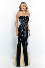 Chiffon Sweetheart 2014 New Arrival Crystal Black/White Mermaid Evening Dress