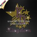 Reino de capital letras con las estrellas de diamantes de imitación de hierro- sobre las transferencias de venta al por mayor