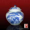 Modern design excellent quality chinese ceramic jar of blue and white porcelain to storage food