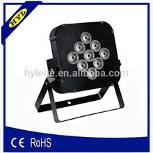 rgbw 9*10w high brightness ip20 flat led par