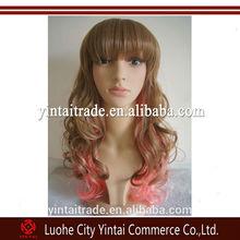 Harajuku Lolita Ombre Kanekalon Braiding Hair Mixed Color Japanese Cosplay Wig Lolita Long Curly Wig