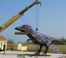 Tyrannosaurus / dinossauro / metal escultura para decoração de jardim / parque escultura / transformers / robot