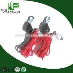 Hydroponics Reflector Hanger Adjustable Rope Ratchet Hangers/rope ratchet tie down snatch strap