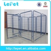 large welded wire mesh metal chain link dog kennel outdoor