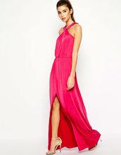 Wholesale 2014 women evening dress Jersey Halter Neck Maxi dress