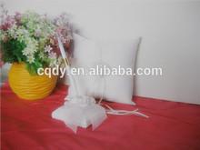 2014 new design silk flower wedding guest book and pen sets handmade white elegance wedding guest book bridal ring pillow
