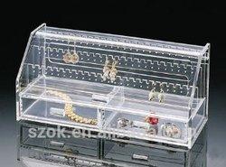 customized clear acrylic jewelry display case