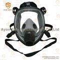 Esférico full face máscara de gás com um único/conector duplo- nenhuma resistência respiratória com lente de nevoeiro- ayonsafety