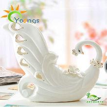 VERY beautiful Decorative Ceramic Peacock Vase