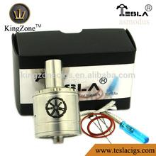 Kingzone Hot Vending Asmodus clone !!air hole copper/ss no leak huge vapor Asmodus clone atomizer