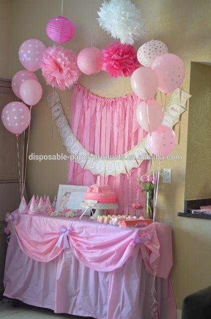 Diy tissue pom pom backdrop - Ruffles And Bows Birthday Backdrop Decor Tissue Paper Pom