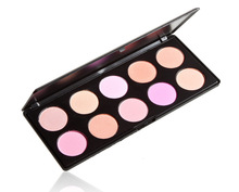 wholesale hot sell professional 10 color natural blush palette , 10 color natural blush