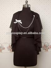 Stylish Women Black Cute Chiffon Sweet Lolita Coat Outwear Shawl Custom Made Halloween Gifts