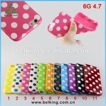 Polka dots design for iPhone6 Plus soft TPU case