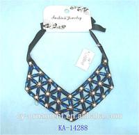 Ribbon rope necklace elegant stone fashion collar necklace