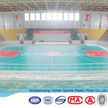 Plastic Vinyl Sports Floor Covering In Rolls