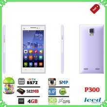 Newest brand new 5 inch IPS cheap android 3g smart phones P300