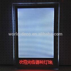 led screen light box / crystal light box / led acrylic photo frame