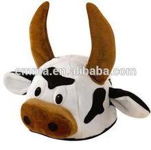 Adult Bull Hat Farm Animal FarmYard Fancy Dress Costume Party hat HT153
