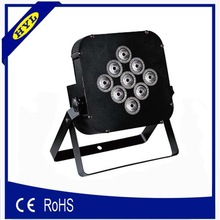 high brightness 9*10w triple or quad rgbw ip 20 led flat par