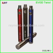 Free Sample!! Rainbow Evod Twist Battery Variable Voltage Evod Twist
