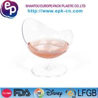 EPK fda lfgb bpa free clear glass new design disposable plastic ice cream cup
