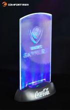 Led lighted rotating display stand
