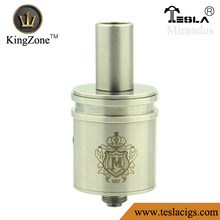 High Promotion!!Kingzone golden/copper/ss big air hole nice rings top oil adding nice vapor mirandus rda clone atomizer
