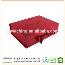 Branding Apparel use Luxury Folding Gift Box with ribbon closure
