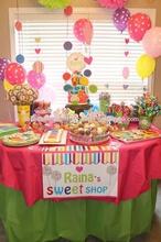 New Pink Party Decoration Ideas Polka Dots Balloons Party Decor Ideas Jumbo Balloon Cute dessert table set up