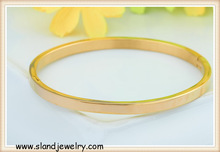 Alibaba website wholesale stainless steel jewelry, shiny finish simple designed gold bangles