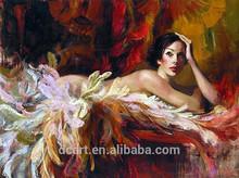 Sexy Nude Dancing Girl Handmade Painting, By Ukraine Famous Female Artist Irene Sheri