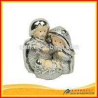 Religious feature unpainted resin figurines