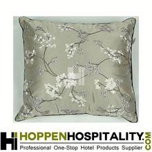 grey peach flower design bean bag seat cushion