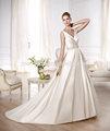 ( meu 278) se casar com a princesa cetim corpete drapeado com decote v reunidos na cintura do vestido de noiva barato