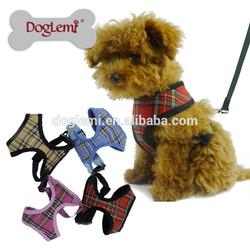 Classic Checked Design Mesh dog harness Pet Jogging Vest harness