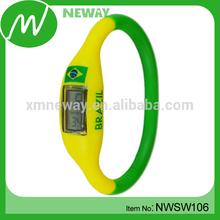 promotion gift custom design digital silicone watch