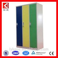 Steel equipments folding assemble 3 door wardrobe aluminum white sliding wardrobe door w