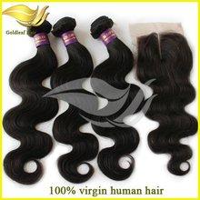 Unprocessed cheveux humains bresiliens wholesale 100% human hair weaving