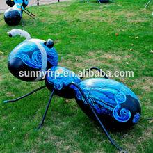 Fiberglass colorful ant statue for park decoration