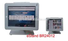 eStand BR24012 desktop tablet stand security case for ipad2/3/4