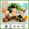 resin garden ornaments home decor furnishings three stumps elf doll