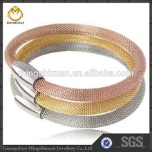 Custom Handmade Stainless Steel Women Style Bracelet Magnetic Clasp Mesh Bracelet