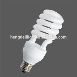 CE RoHS 8000hours 220-240V/50-60Hz Half spiral energy saving lamp
