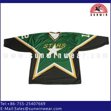 Dye sublimation ice hockey jersey men hockey shirts