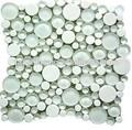Personalizado- hechos blanco redondo de color del azulejo del mosaico de vidrio de cristal