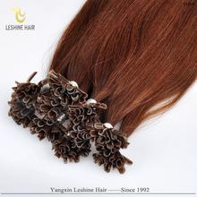 100% human italian keratin full thick european remy dark color nail tip hair